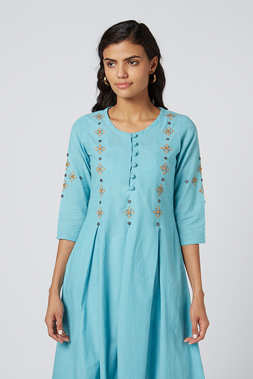 Okhai 'Clarity' Embroidered Cotton Dress