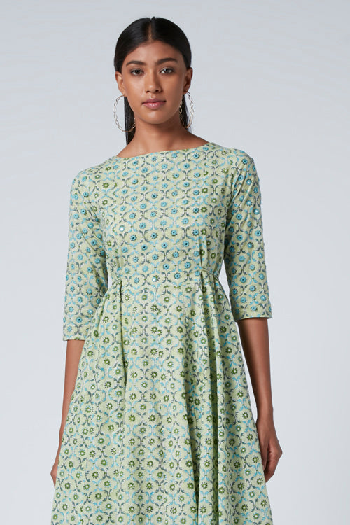 Okhai 'Juno' Cotton Hand Block Print Dress