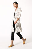 Okhai 'Fida' Cotton Ikat long shrug
