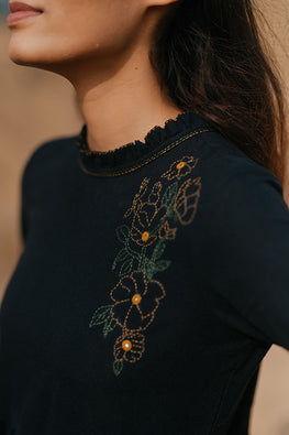 Okhai 'Soul' Embroidered Cotton Handloom Dress