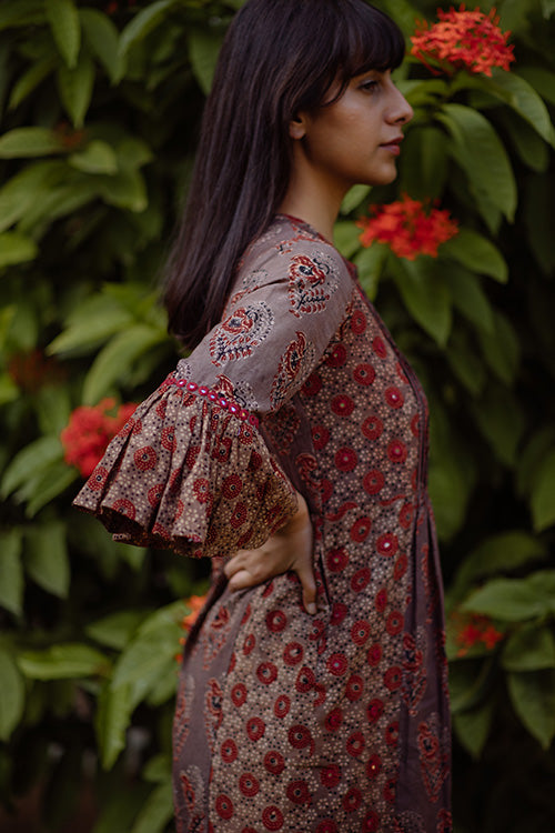 Okhai 'Valley' Embroidered Cotton Dress
