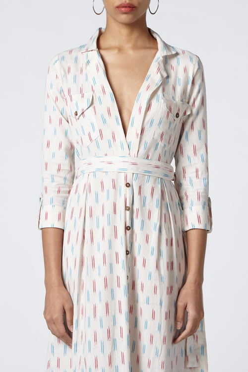 Okhai Nouvelle Cotton Ikat Dress Online