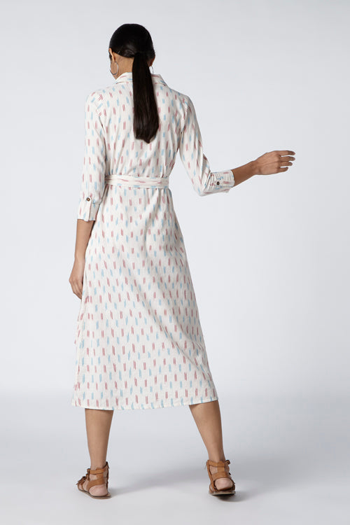 Okhai 'Nouvelle' Cotton Ikat Dress