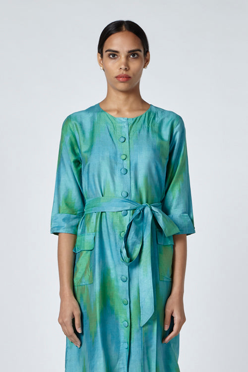 Okhai 'Horizon' Ikat Silk Blend Dress