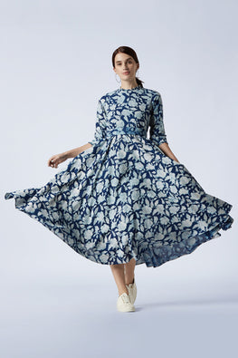Okhai 'Natura' Cotton Hand Block Printed Dress