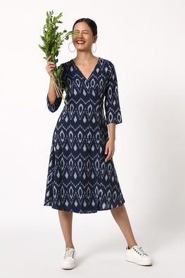 Okhai 'Malay' Ikat Wrap Dress