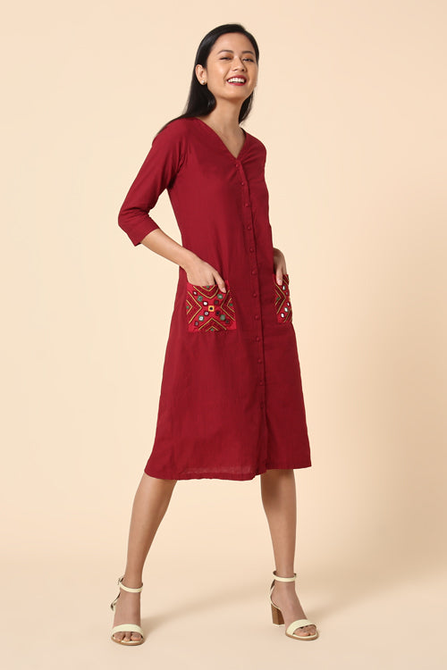 Okhai 'Adore' Embroidered Cotton Dress