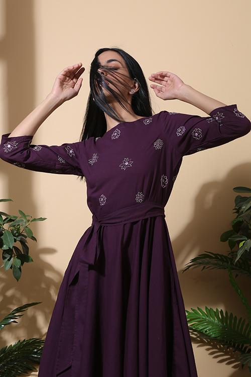 Okhai 'Wonderland' Hand Embroidered Pure Cotton Dress