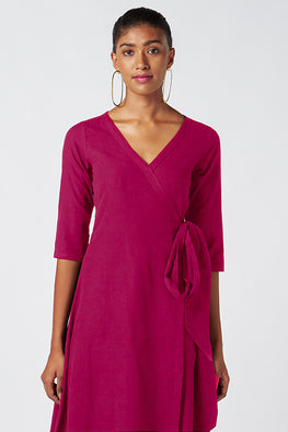 Okhai 'Merlot' Pure Cotton Wrap Dress