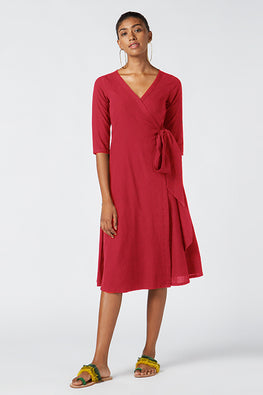 Okhai 'Scarlett' Pure Cotton Wrap Dress