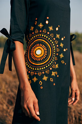 Okhai Pious Mirror Work Black Embroidered Dress Online