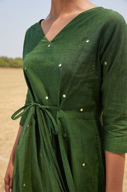 Okhai 'Jade' Pure Cotton Mirror Work Dress