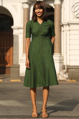 Okhai 'Parakeet' Pure Cotton Dress