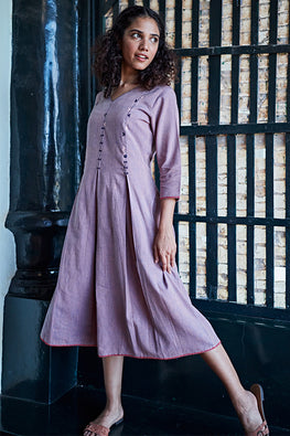 "Okhai ""Sabrina"" Handwoven Suf Embroidery Dress"