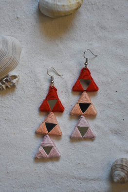 Okhai 'Spark' Red Peach Earrings