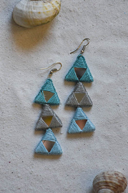 Okhai 'Spark' Blue Teal Earrings