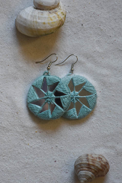 Okhai 'Ferris Wheel' Sea Green Earrings