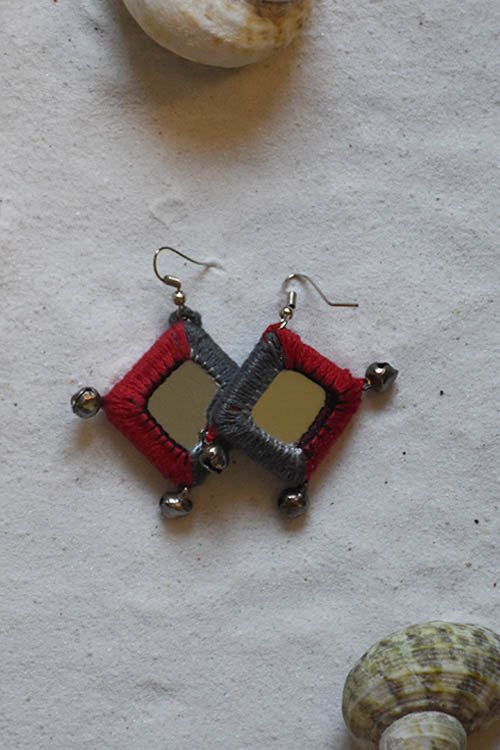 Okhai 'Zest' Maroon Earrings