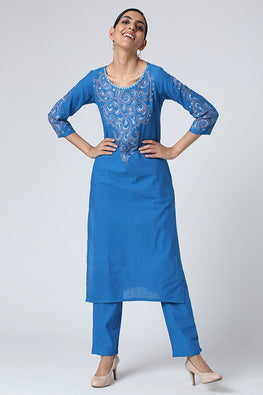 Okhai 'Zaina' Embroidery Work Cotton Set