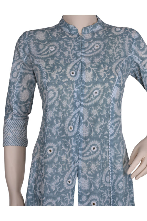 "Okhai ""Summer Love"" Mirror Work Kurti"