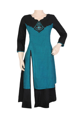 "Okhai ""Take me to Venice"" Hand Embroidered Kurti"