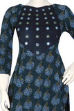 "Okhai ""Indian Ocean"" Block Mirror Work Kurti"