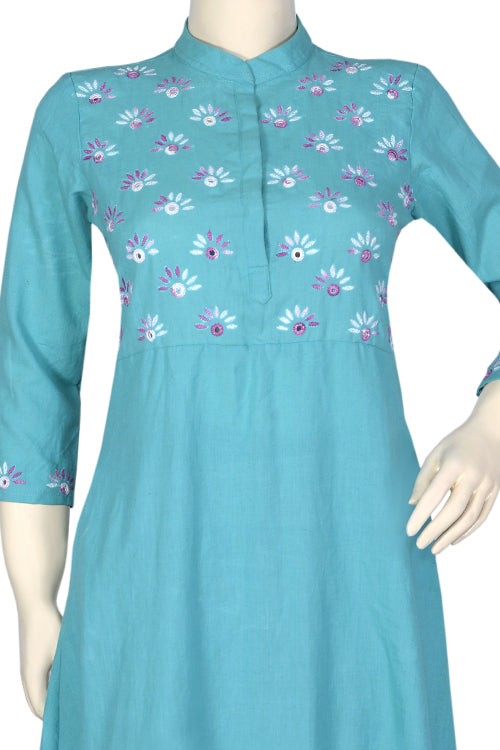 "Okhai ""Spring Sky"" Embroidery Work Dress"