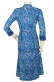 "Okhai ""Blue Nile"" Hand Block Embroidery Work Kurti"