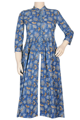 "Okhai ""Turkish Garden"" Hand Block Printed Kurta"