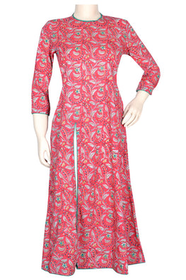 "Okhai ""Valley Of Flowers"" Hand Block Printed Kurti"