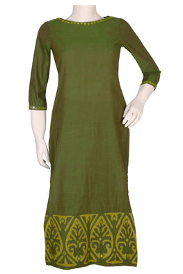 "Okhai ""Henna Hues"" Applique Work Kurti"