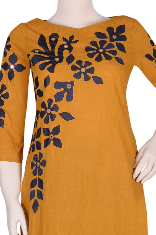 "Okhai ""The Pioneer"" Appliqué Work Kurti"