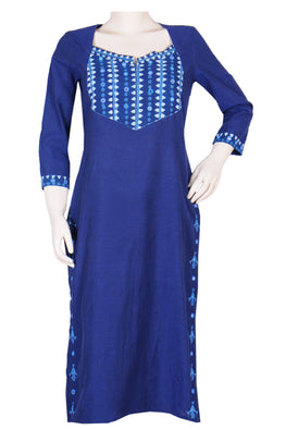 "Okhai ""Summer Drizzle"" Embroidery Work Kurti"