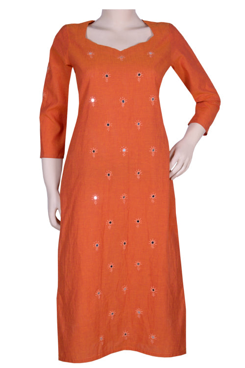 "Okhai ""Sunset Sky"" Embroidery Work Kurti"