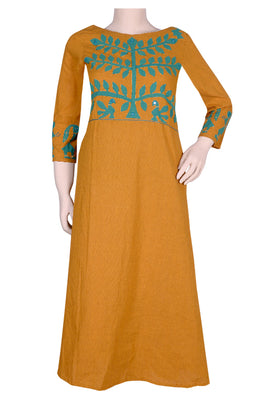 "Okhai ""The Crusader"" Applique Work Dress"