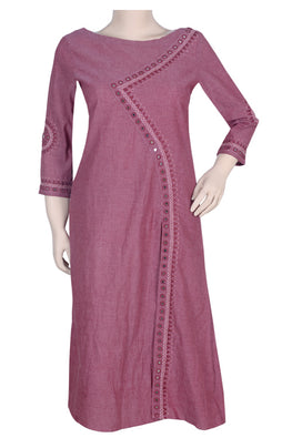 "Okhai ""Rose Dust"" Embroidery Work Kurta"