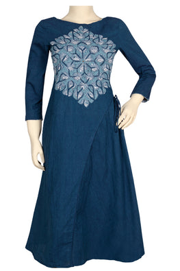 "Okhai ""Blue Robin"" Applique Work Dress"