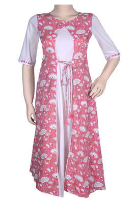 "Okhai ""Pink Begonia"" Mirror Work Dress"