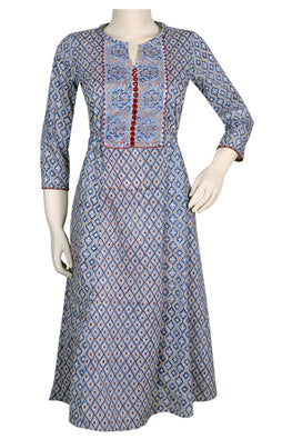 "Okhai ""Monsoon Magic"" Hand Block Printed Dress"