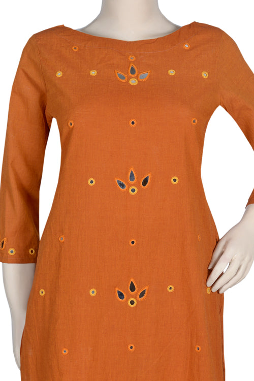 "Okhai ""Sunrise Hope"" Mirror Work Kurta"