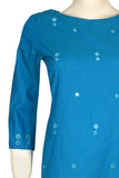 "Okhai ""Monsoon Breeze"" Mirror Work Kurta"