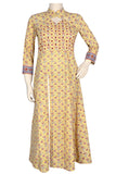 "Okhai ""Sun Kissed Flowers"" Mirror Work Kurta"
