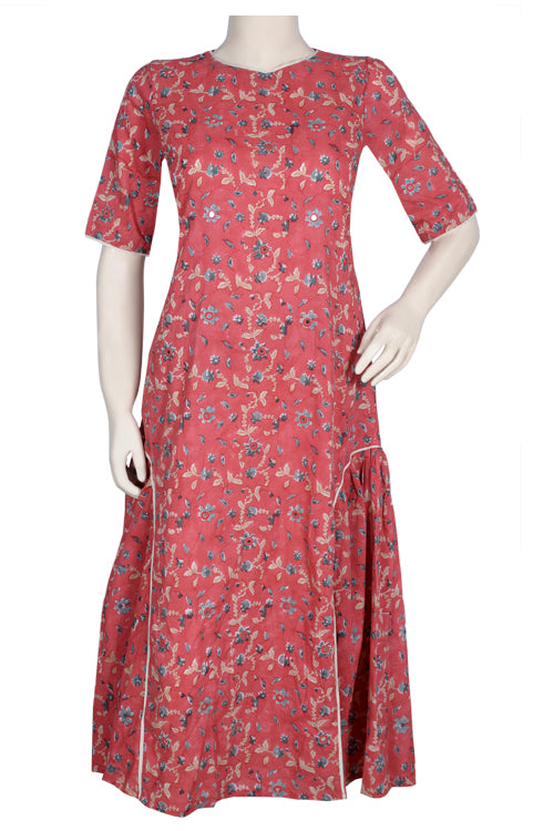 "Okhai ""Sunset Garden"" Hand Block Printed Dress"