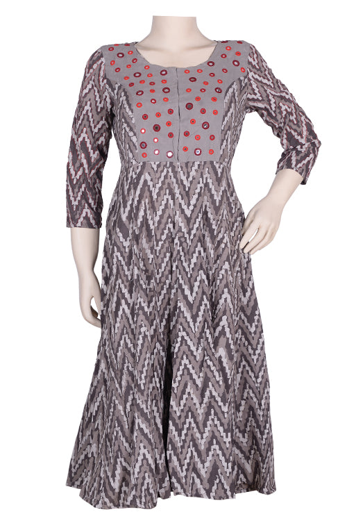 "Okhai ""Autumn Joy"" Embroidery Work Kurta"