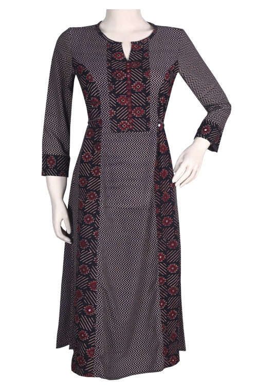 "Okhai ""Autumnal Beauty"" Hand Block Printed Dress"
