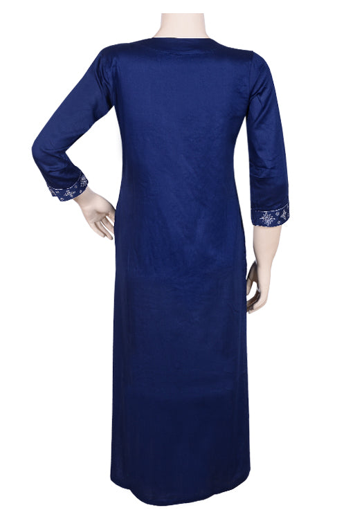"Okhai ""Heart Of The Ocean"" Karchobi Work Kurta"