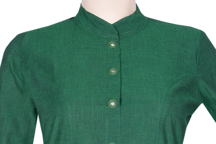 "Okhai ""Mountain Jade"" Mirror Work Kurta"