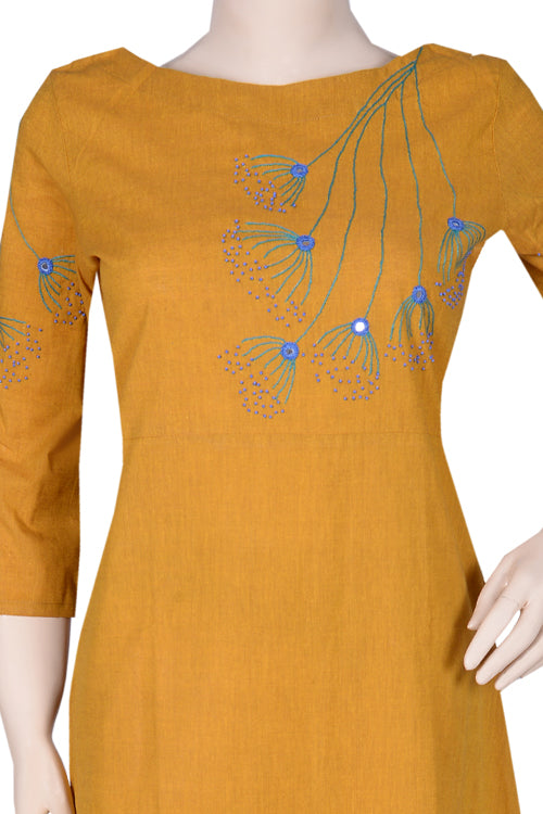 "Okhai ""Wildflower Wish"" Emroidery Work Dress"