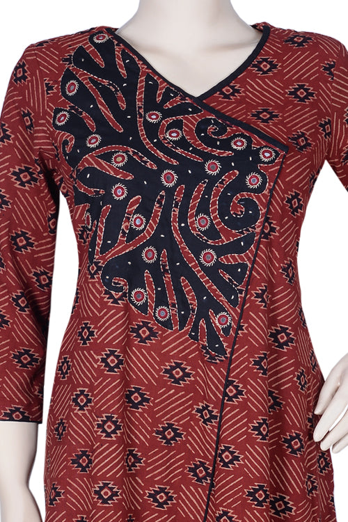 Okhai 'Terracotta Treasure' Appliqué Kurta