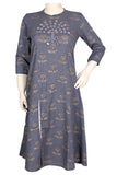 Okhai 'New Life' Cotton Slub Embroidered Kurta
